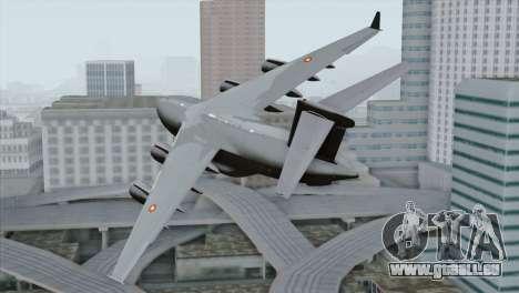 C-17A Globemaster III QAF für GTA San Andreas linke Ansicht
