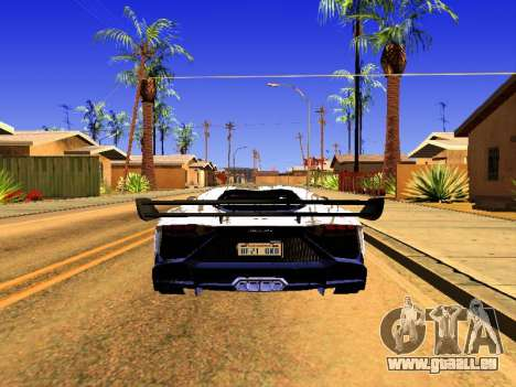 Lamborghini Aventador Novitec Torado pour GTA San Andreas laissé vue