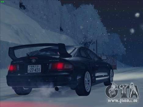Toyota Celica GT-FOUR (ST205) pour GTA San Andreas laissé vue