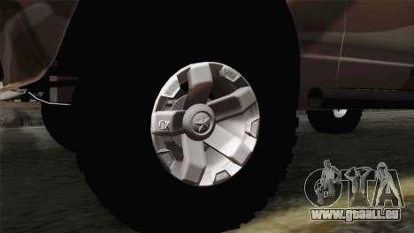 VAZ 2107 pour GTA San Andreas sur la vue arrière gauche