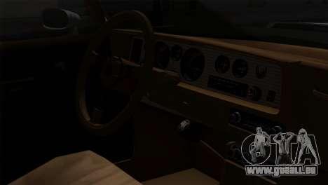 Pontiac Trans AM Interior pour GTA San Andreas vue arrière