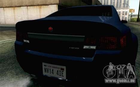 GTA 5 Cheval Fugitive HQLM pour GTA San Andreas vue arrière