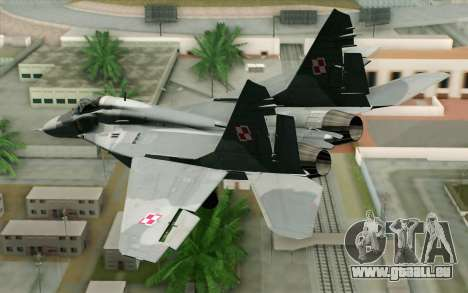 MIG-29 Polish Air Force für GTA San Andreas linke Ansicht
