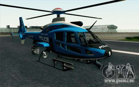 NFS HP 2010 Police Helicopter LVL 2 für GTA San Andreas