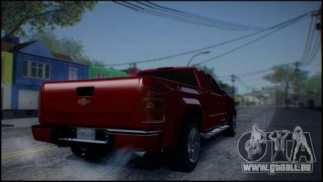 Chevrolet Silverado 1500 HD Stock pour GTA San Andreas vue de droite