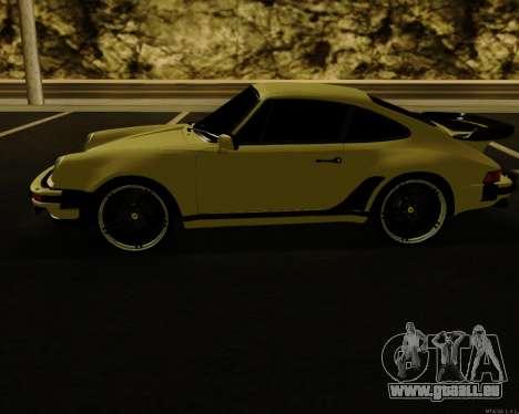 Porsche 911 Turbo pour GTA San Andreas sur la vue arrière gauche