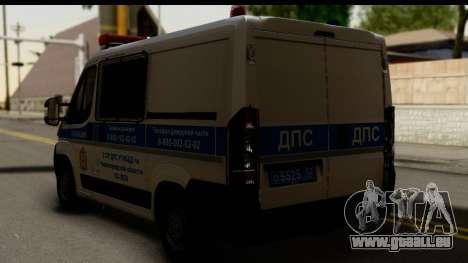 Fiat Ducato DPS STSI pour GTA San Andreas laissé vue