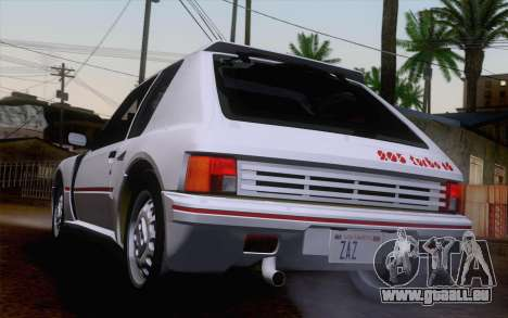 Peugeot 205 Turbo 16 1984 [IVF] pour GTA San Andreas laissé vue