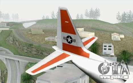 C-130H Hercules Coast Guard pour GTA San Andreas sur la vue arrière gauche