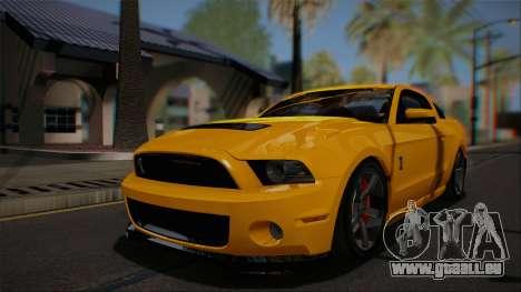 Ford Shelby GT500 2013 Vossen version für GTA San Andreas Seitenansicht