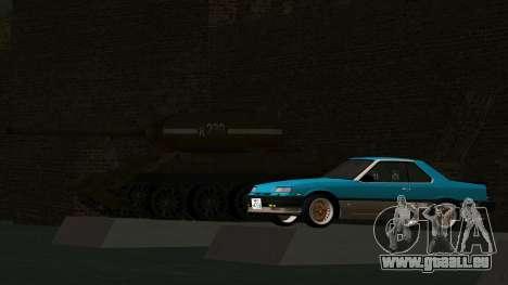 Nissan Skyline 2000 Turbo Intercooler RS-X kouki pour GTA San Andreas vue intérieure