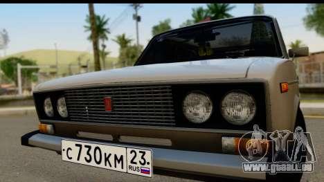 ВАЗ 2106 Basse Classique pour GTA San Andreas sur la vue arrière gauche