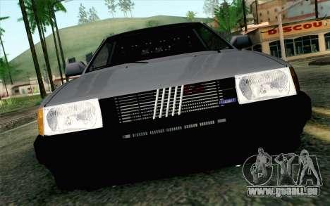Fiat Regata für GTA San Andreas Rückansicht
