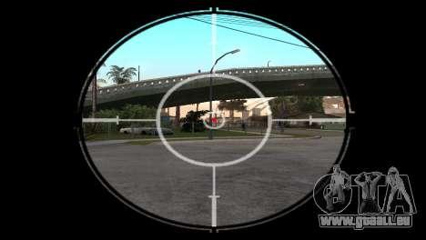 AWP DragonLore из CS:GO pour GTA San Andreas troisième écran