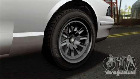 GTA 5 Vapid Stanier II SA Style pour GTA San Andreas sur la vue arrière gauche
