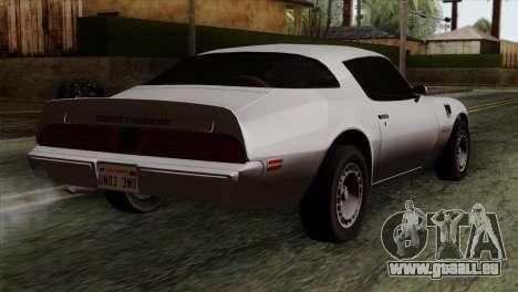 Pontiac Trans AM für GTA San Andreas linke Ansicht