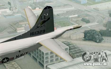 Lockheed P-3 Orion VP-11 US Navy pour GTA San Andreas sur la vue arrière gauche