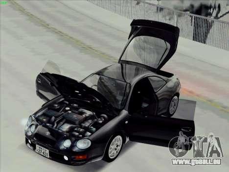 Toyota Celica GT-FOUR (ST205) pour GTA San Andreas sur la vue arrière gauche