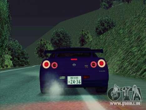 Nissan Skyline GT-R V-Spec (BNR34) für GTA San Andreas rechten Ansicht