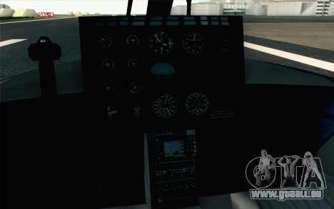 NFS HP 2010 Police Helicopter LVL 2 für GTA San Andreas Rückansicht