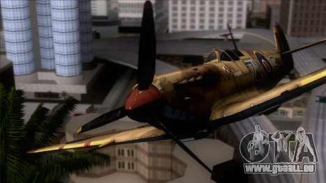 Stanislaw Skalski Supermarine Spitfire MK IXC für GTA San Andreas Rückansicht