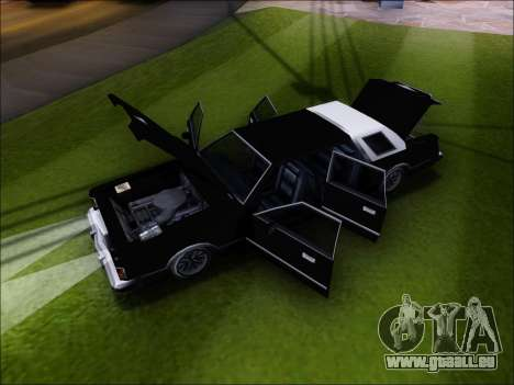New Virgo pour GTA San Andreas vue arrière