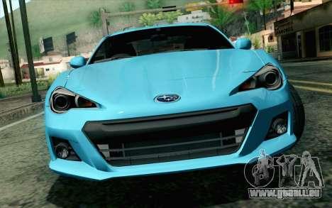Subaru BRZ 2012 für GTA San Andreas Rückansicht