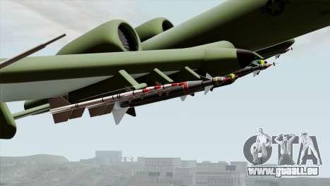 A-10 Warthog Shark Attack pour GTA San Andreas vue de droite