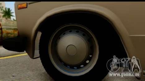 ВАЗ 2106 Basse Classique pour GTA San Andreas vue arrière