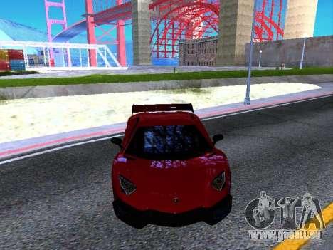 Lamborghini Aventador Novitec Torado pour GTA San Andreas vue intérieure