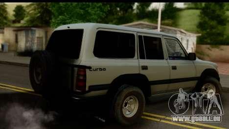 Toyota Land Cruiser 80 v1.0 pour GTA San Andreas laissé vue