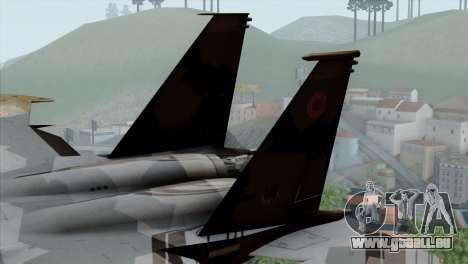 F-15E Yellow Squadron pour GTA San Andreas sur la vue arrière gauche