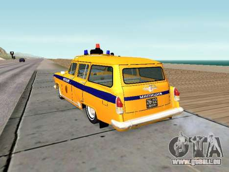 De GAZ 22 la police Soviétique pour GTA San Andreas sur la vue arrière gauche