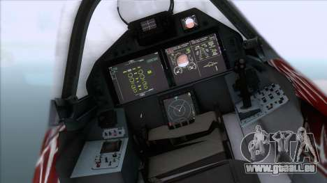 Sukhoi T-50 PAK FA Akula with Trinity für GTA San Andreas rechten Ansicht