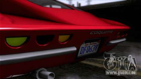 GTA 5 Invetero Coquette Classic HT für GTA San Andreas Rückansicht
