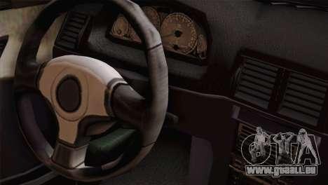 BMW M3 pour GTA San Andreas vue arrière