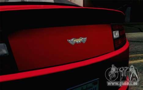 GTA 5 Dewbauchee Exemplar SA Mobile pour GTA San Andreas vue arrière