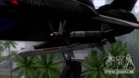 F-14 Neon Blue Macross Frontier für GTA San Andreas Rückansicht