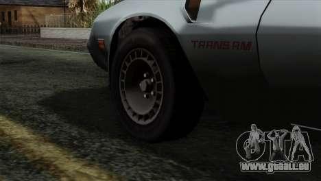 Pontiac Trans AM Interior pour GTA San Andreas sur la vue arrière gauche