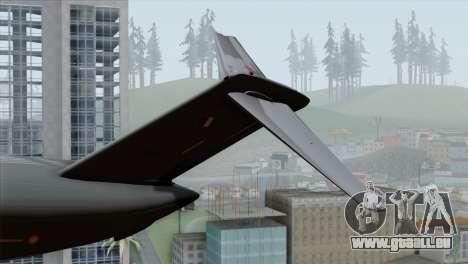 C-17A Globemaster III QAF für GTA San Andreas zurück linke Ansicht