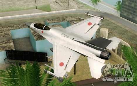Mitsubishi F-2 Original JASDF Skin für GTA San Andreas linke Ansicht