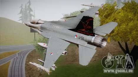 F-16 Fighting Falcon 60th Anniv. of Volkel AFB pour GTA San Andreas laissé vue