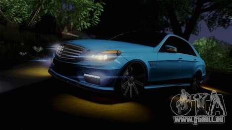 Mercedes-Benz E63 AMG 2010 Vossen wheels pour GTA San Andreas vue de dessous