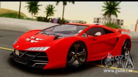 GTA 5 Pegassi Zentorno Zen Edition für GTA San Andreas