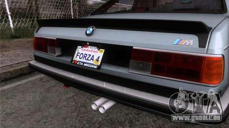 BMW M635 CSi 1984 Stock pour GTA San Andreas vue arrière