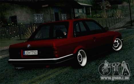 BMW E30 pour GTA San Andreas laissé vue