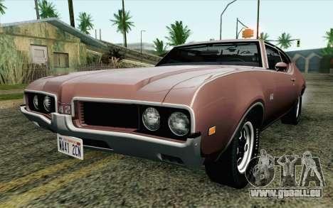 Oldsmobile 442 Holiday Coupe 1969 HQLM pour GTA San Andreas