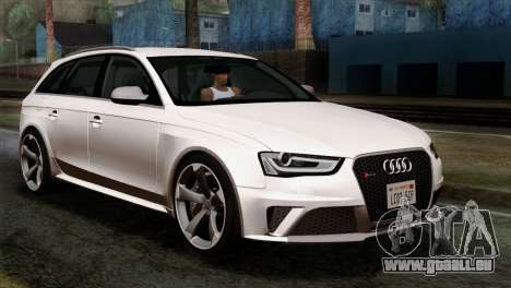 Audi RS4 Avant B8 2013 v3.0 pour GTA San Andreas