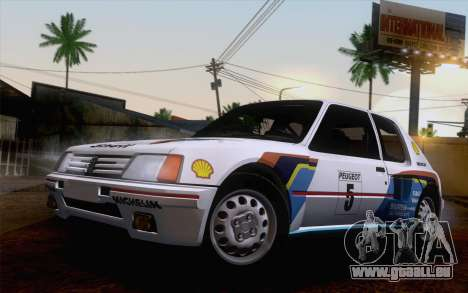 Peugeot 205 Turbo 16 1984 [IVF] für GTA San Andreas obere Ansicht