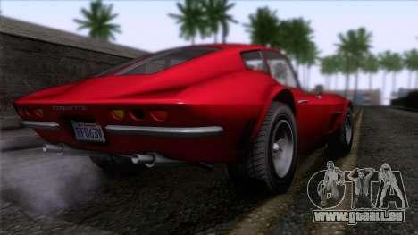 GTA 5 Invetero Coquette Classic HT pour GTA San Andreas laissé vue